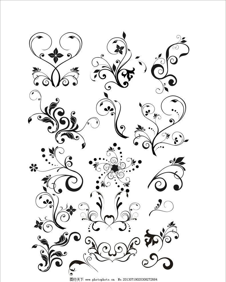 花边 多样 古典 艺术 优雅 古风 花纹花边 底纹边框 矢量 cdr