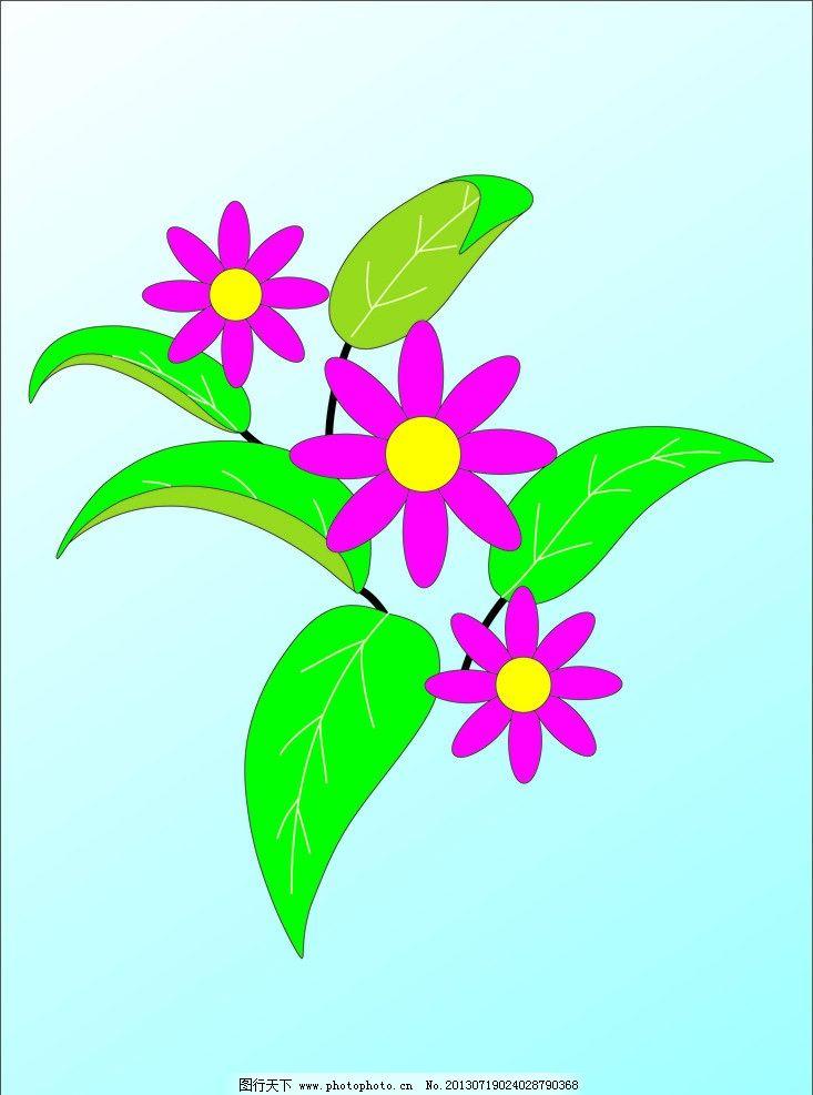 花朵 小花朵 植物 矢量花 花 叶子 绿色 自然风景 自然景观 矢量 cdr