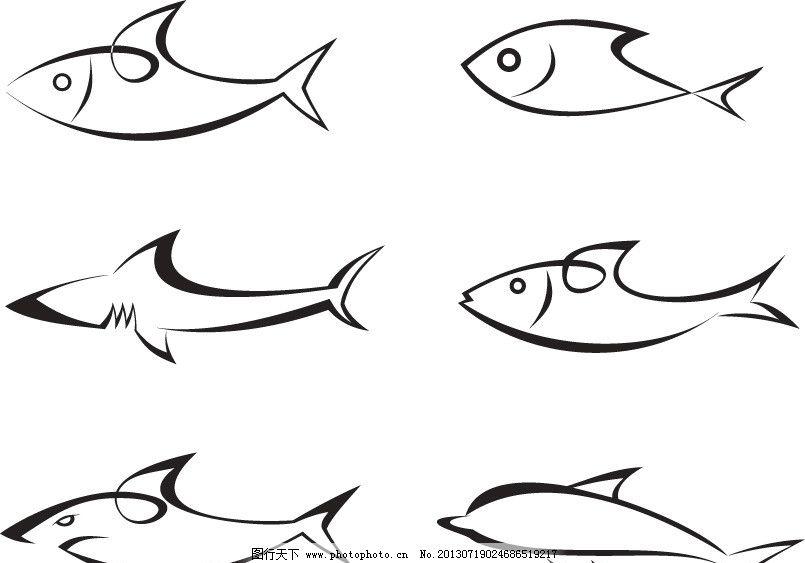 鱼延异图形创意手绘