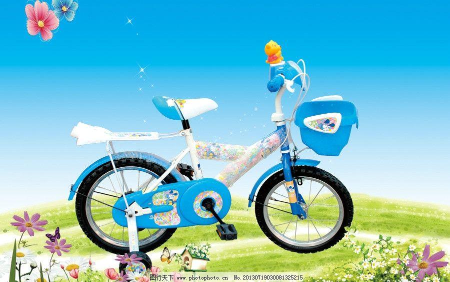 小孩自行车海报图片