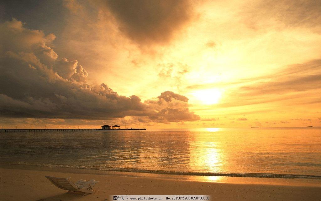 海平线 日出 日落 海岸 云 自然风景 自然景观 摄影