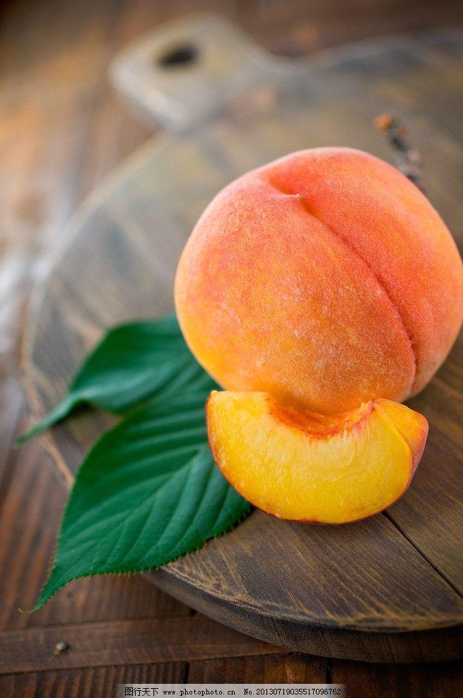 水果 桃子 果实 绿色食品 水蜜桃 生物世界 摄影 300dpi jpg