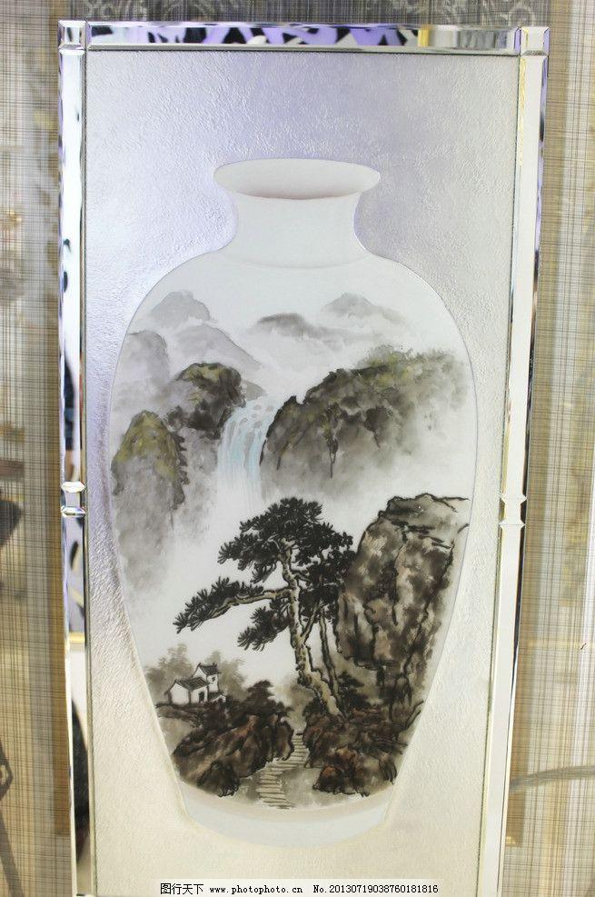 花瓶国画图片