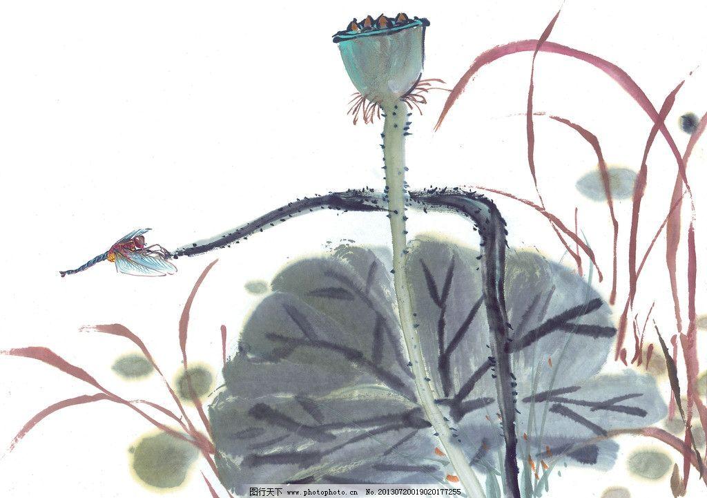 水彩花卉 花卉图案 手绘水彩 花卉植物 荷花 荷叶 绘画书法 文化艺术