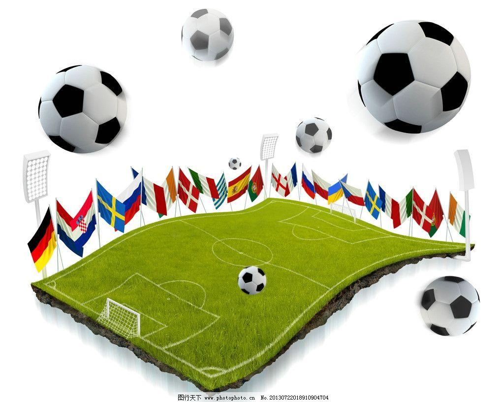 足球特写 世界杯 足球 奖杯 草坪 草地 绿荫 体育运动 文化艺术 设计图片