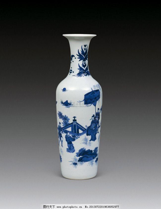 青花瓷花瓶 青花瓷花瓶免费下载 古董 瓶子 陶瓷 搪瓷 图片素材