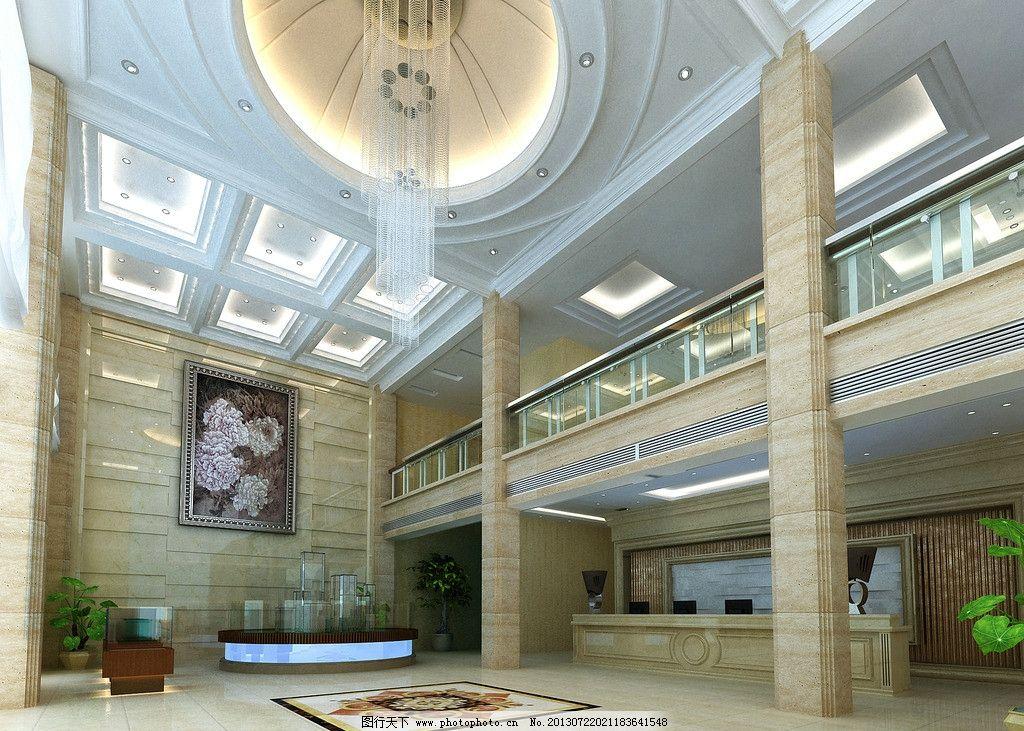 售楼处 大厅 3d效果图 大理石 造型吊顶 3d作品 3d设计 设计 72dpi