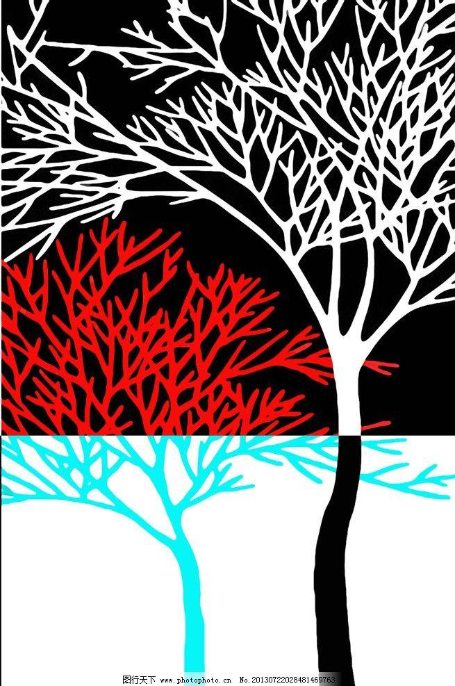 树木装饰画图片图片