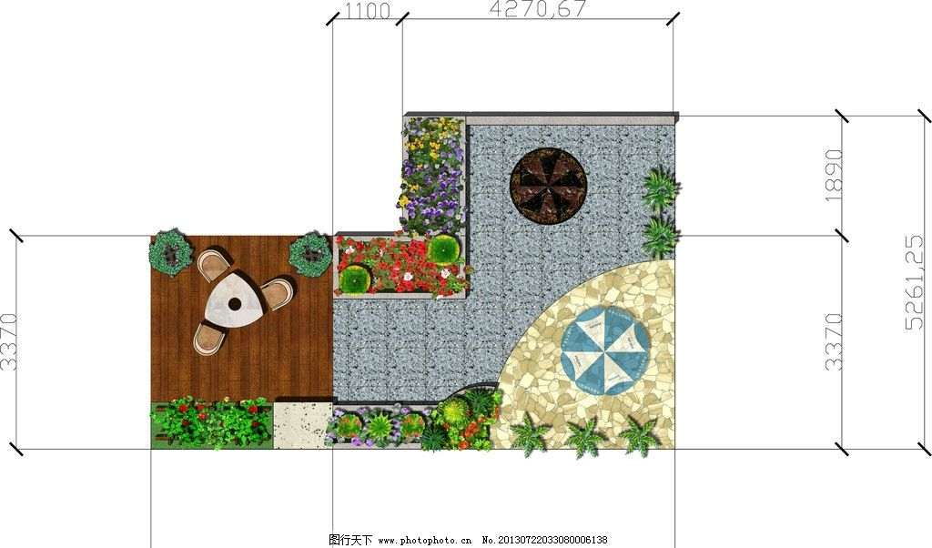 屋顶花园 空中花园 ps彩平图 平面图设计 ps素材 psd分层素材 源文件