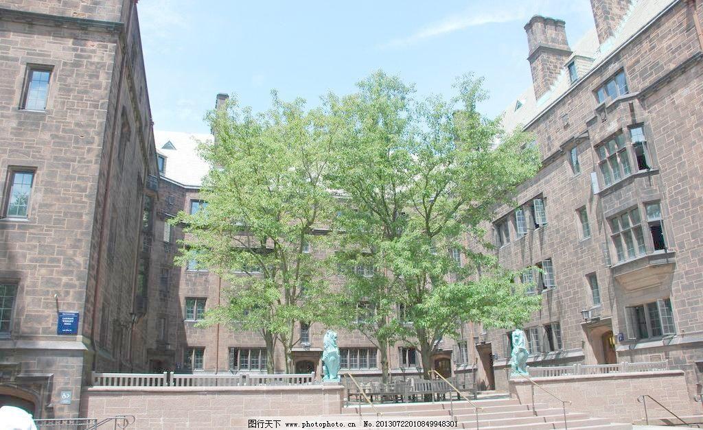 欧式建筑 楼房 石阶      雕塑 天空 建筑摄影 建筑园林 摄影 300dpi