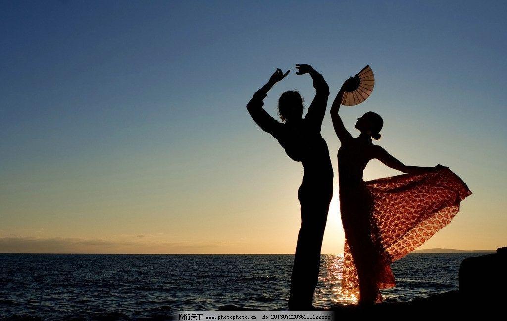 qq头像海边舞蹈图片