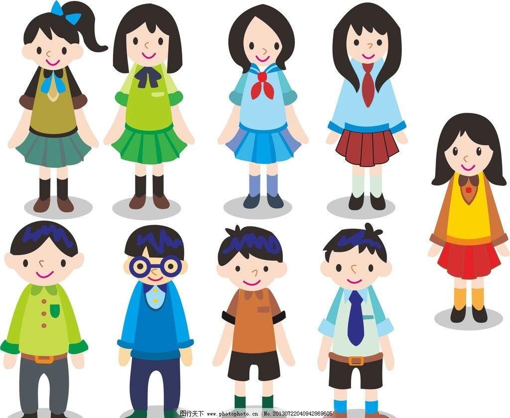 卡通人物 卡通小学生图片