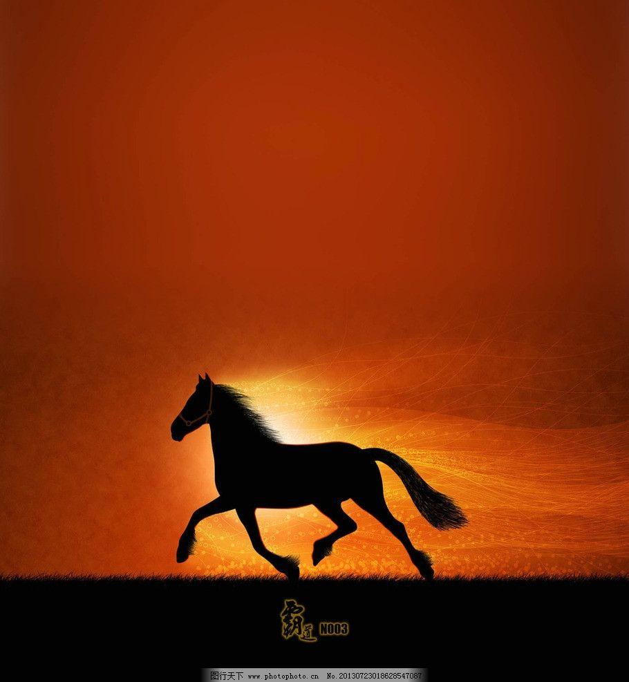 动物马壁纸 黄昏 奔跑
