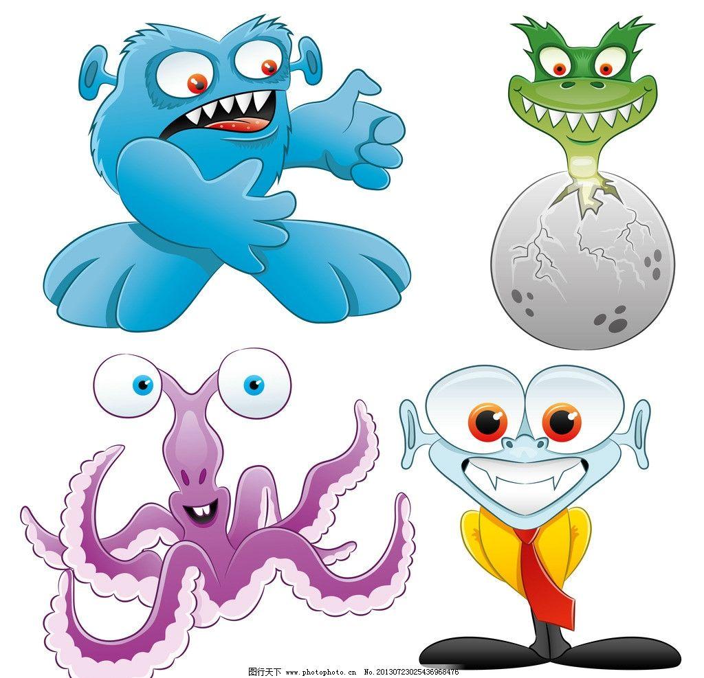 怪物 野兽 怪兽 动物 恐怖 妖怪 怪物面孔 表情 漫画 插画