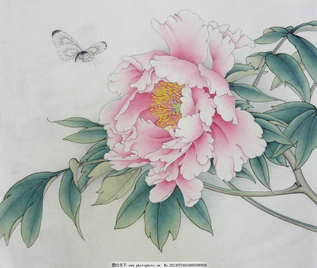 寻觅 牡丹 工笔画 水墨画 植物 动物 蝴蝶 绘画书法 文化艺术 设计 1
