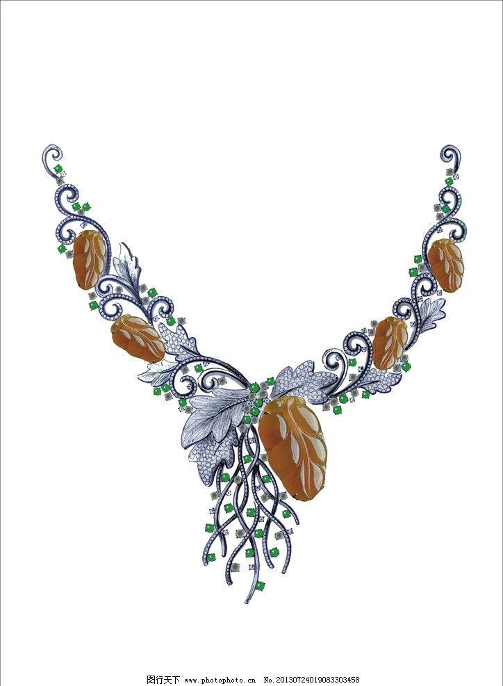 珠宝设计手绘图片