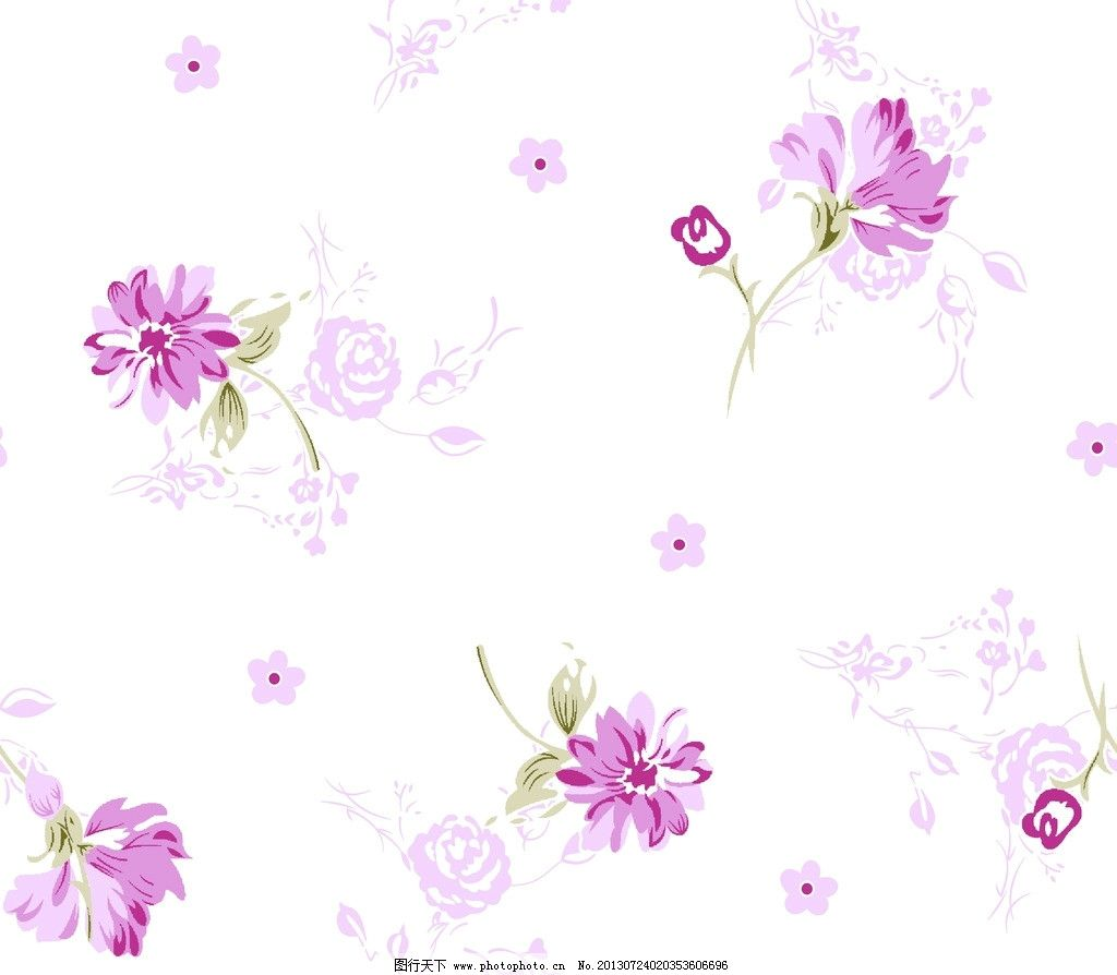 碎花底纹 小碎花 底纹 花卉 纺织品 面料设计 服装面料设计 底纹边框