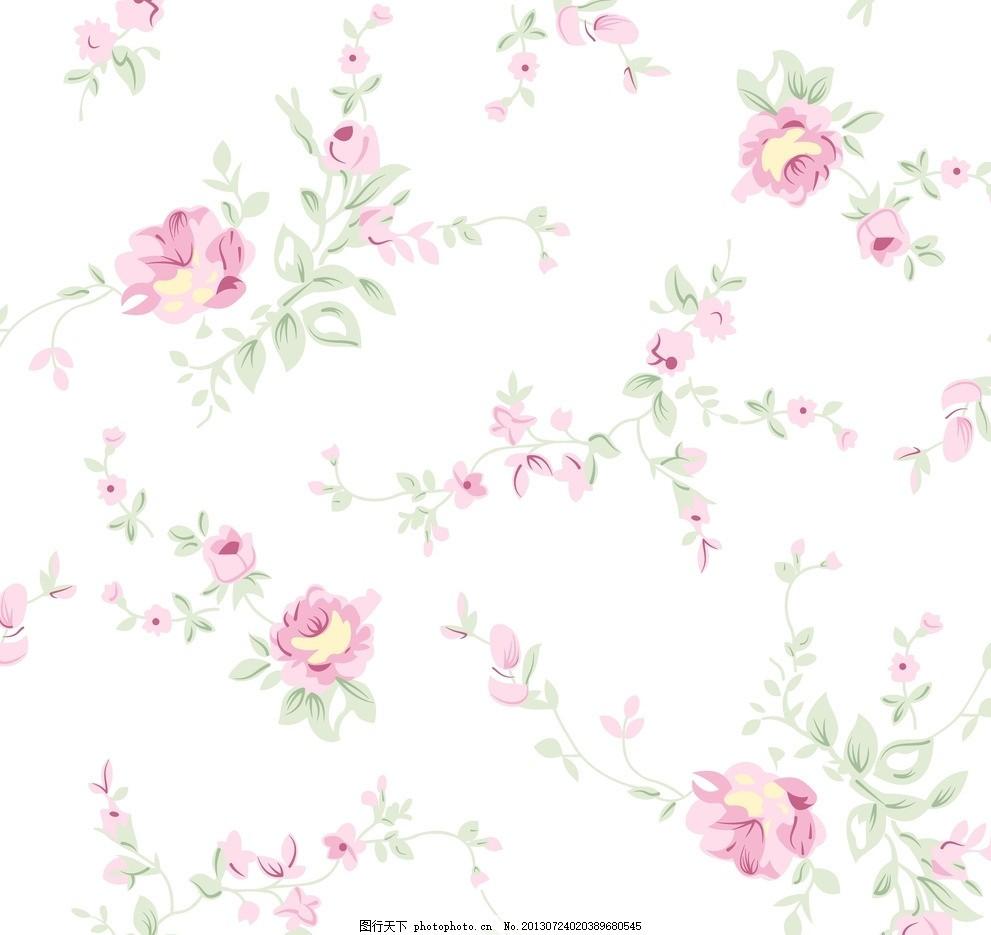 可爱逗比的碎花背景