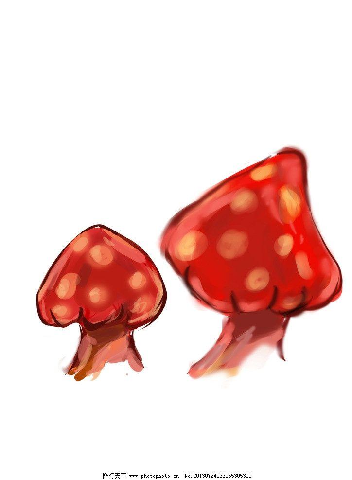 手绘蘑菇图片