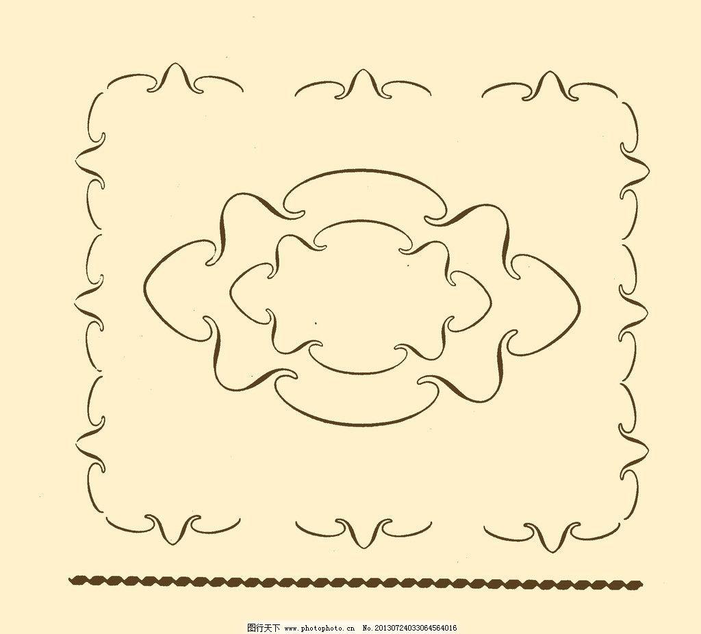 边框 花边 外框 框线 装饰 花纹 卷曲 边框角花 psd分层素材 源文件