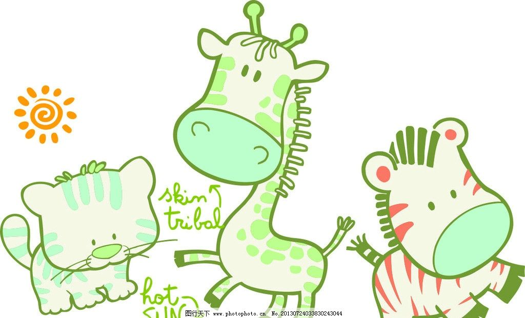 小动物卡通图