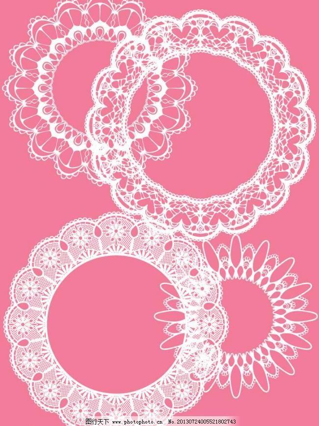 ai 边框 编织 刺绣 底纹边框 花边 花纹 花纹花边 可爱 蕾丝 圆形蕾丝