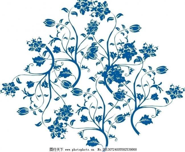 瓷器花纹青花瓷图片手绘-瓷器花纹
