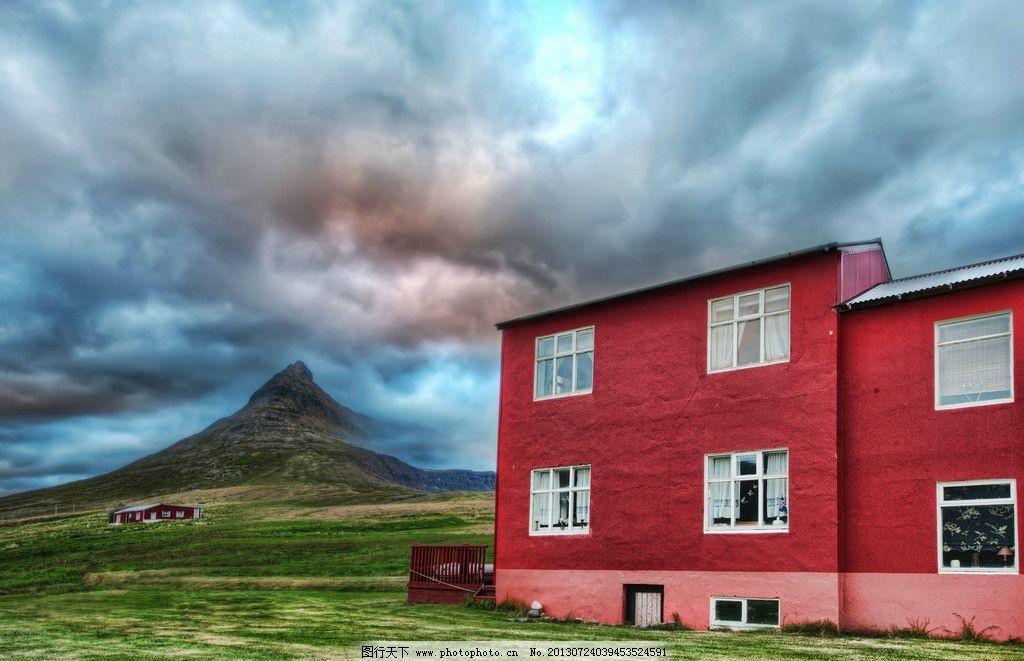 红色房子图片