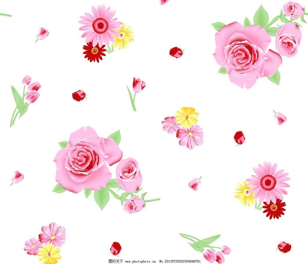 手绘可爱小碎花带边框
