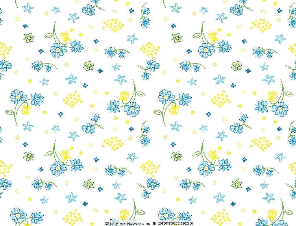 花纹背景 小碎花 底纹 花卉 纺织品 面料设计 服装面料设计 花卉底纹