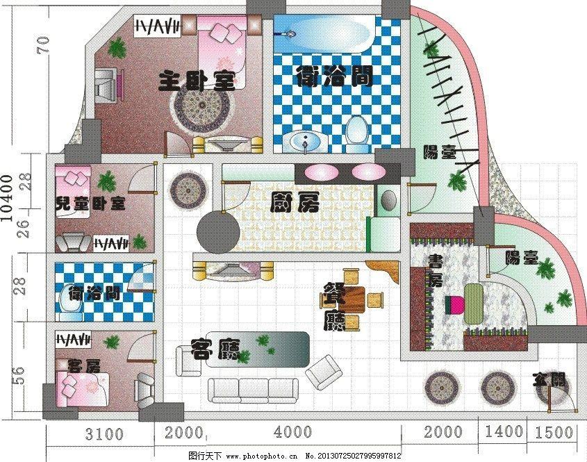 室内家居平面展开图 简式风格设计 室内家居 室内设计 建筑家居 矢量