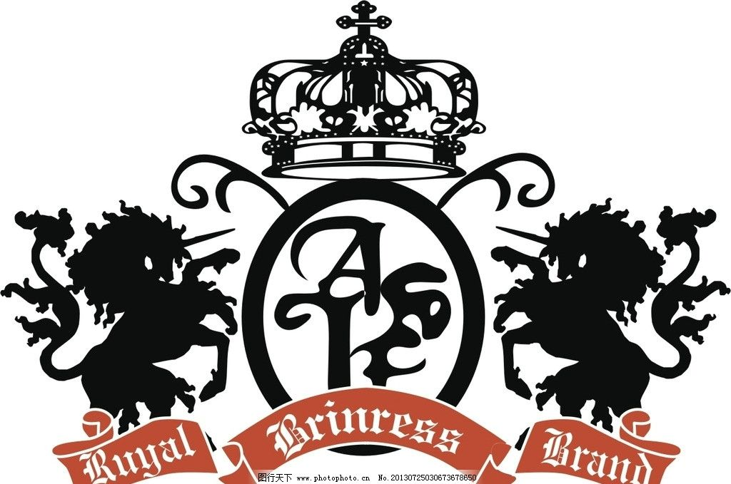 皇冠 标志 狮子 英文 徽章 标 a 马 独角兽 服装设计 广告设计 矢量
