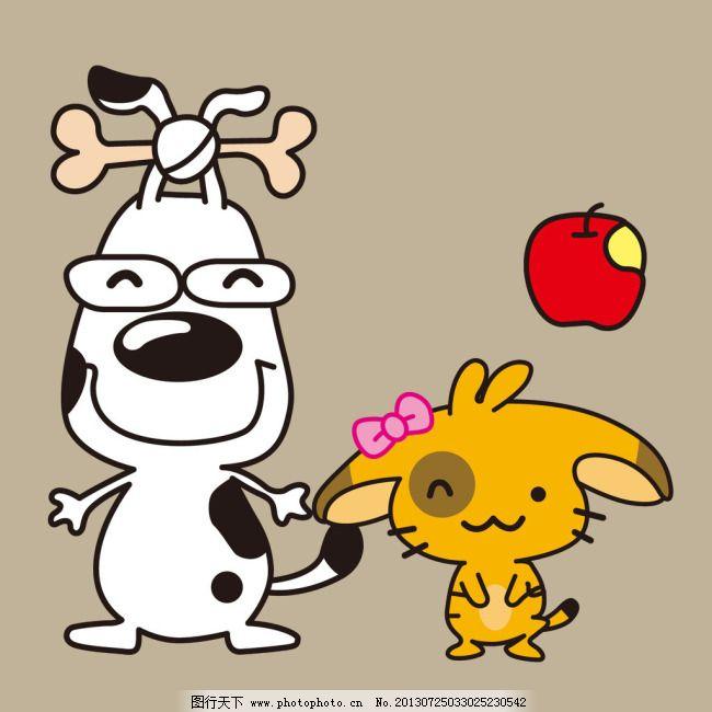 动物 动物免费下载 狗狗 猫咪 苹果 小花