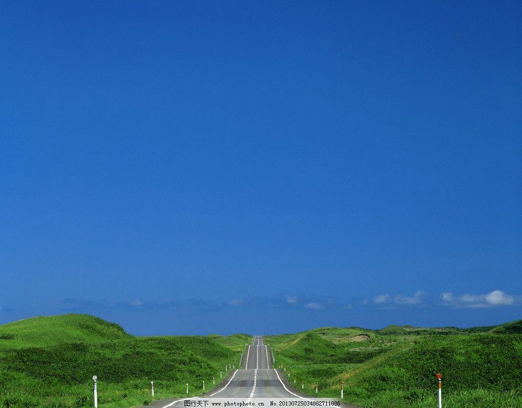通向远方的道路风景图片