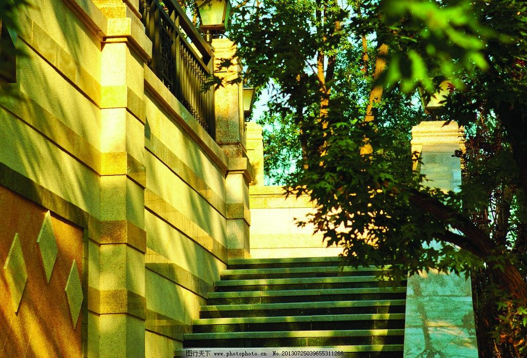 欧式园林台阶景观图片