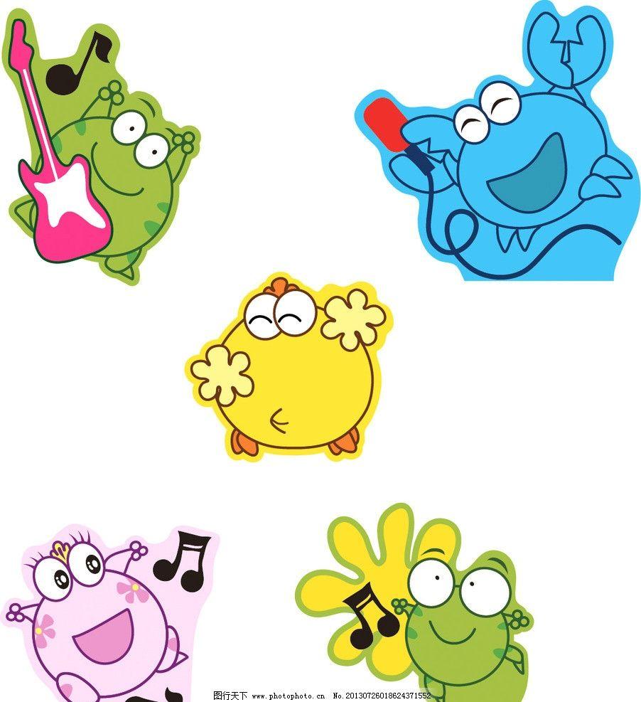卡通动物 卡通 鸡 吉他 动漫 青蛙 螃蟹 其他 动漫动画 设计 150dpi