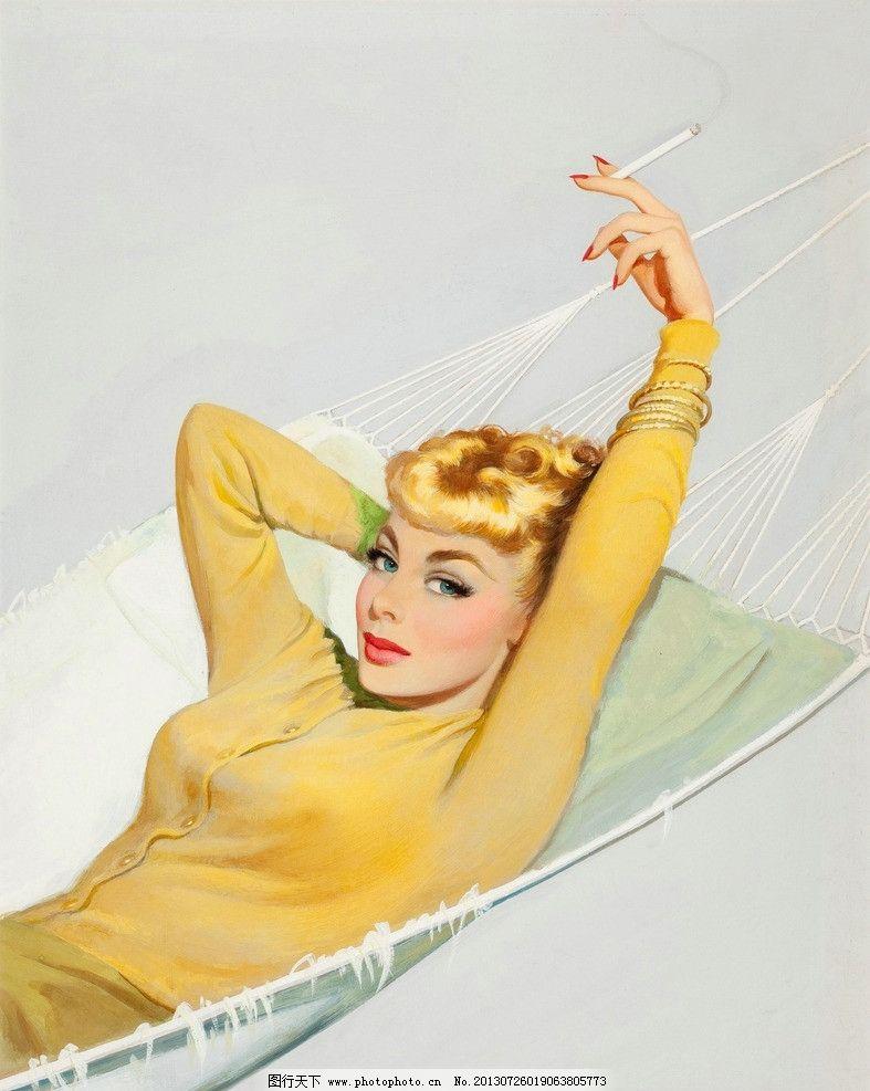 英伦复古女生抽烟壁纸