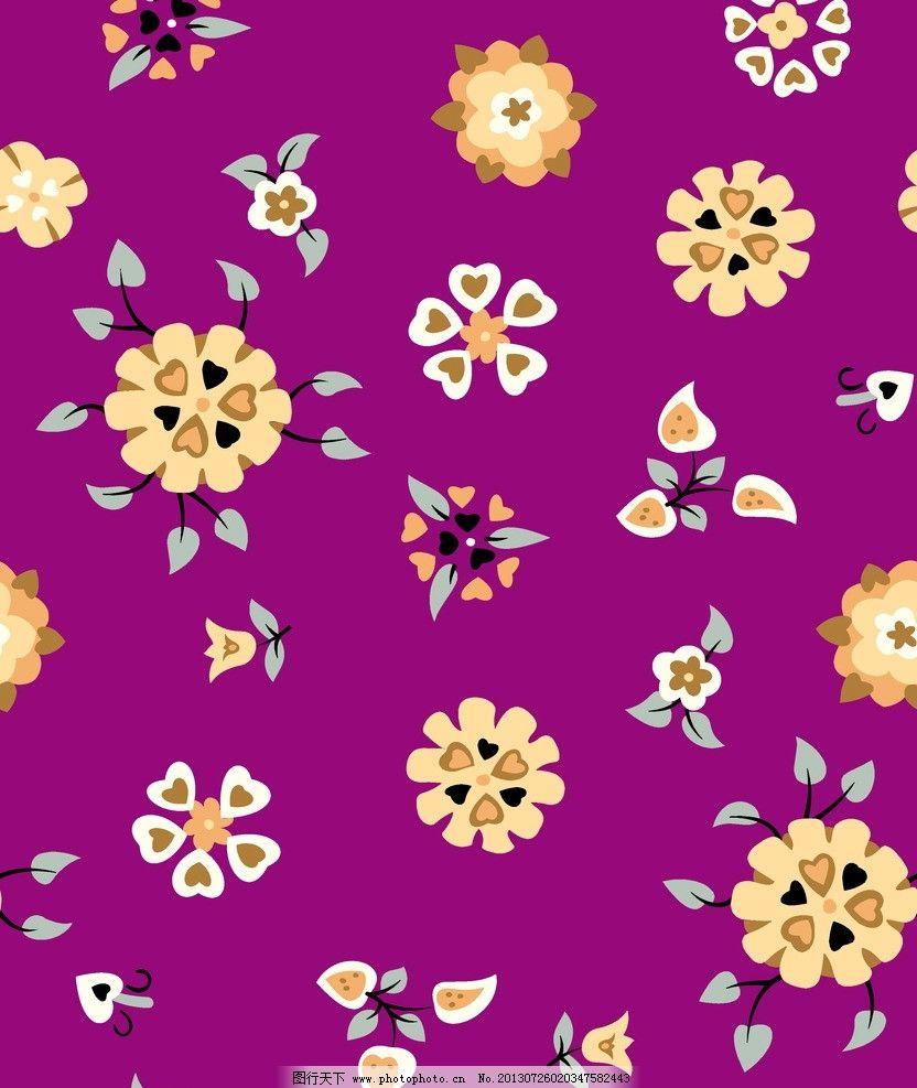 小碎花 底纹 花卉 纺织品 面料设计 服装面料设计 花边花纹 底纹边框
