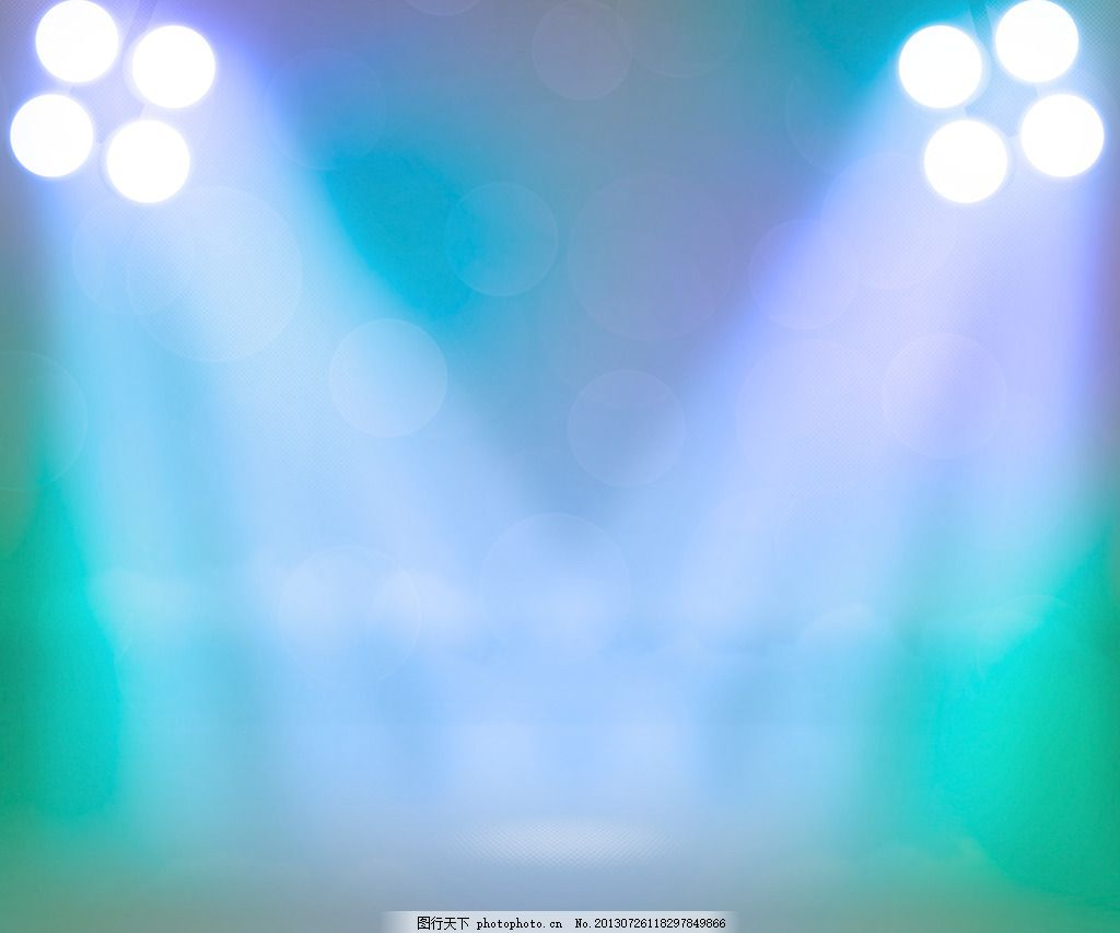 蓝色的聚光灯 舞台背景     青色 天蓝色 jpg