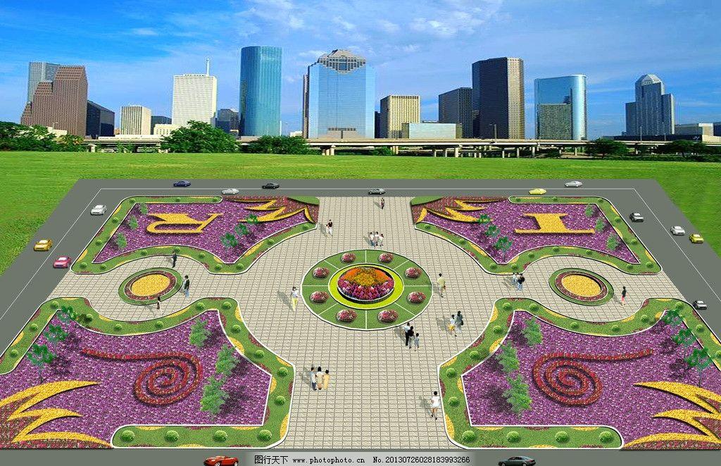 城市休闲广场鸟瞰图图片_景观设计_环境设计_图行天下