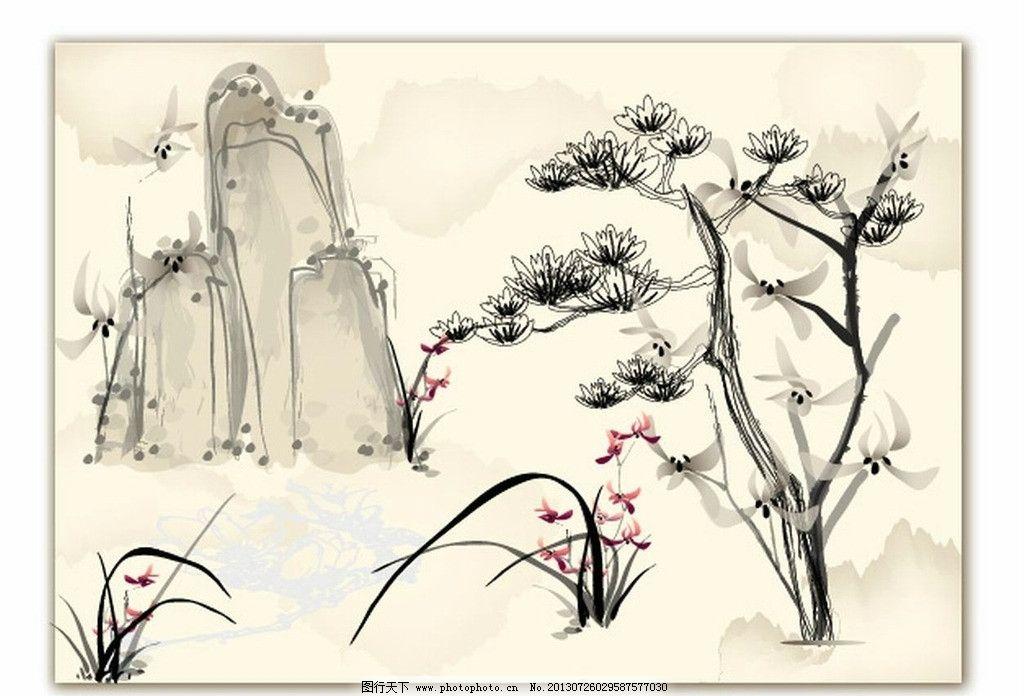 传统山水墨画图片