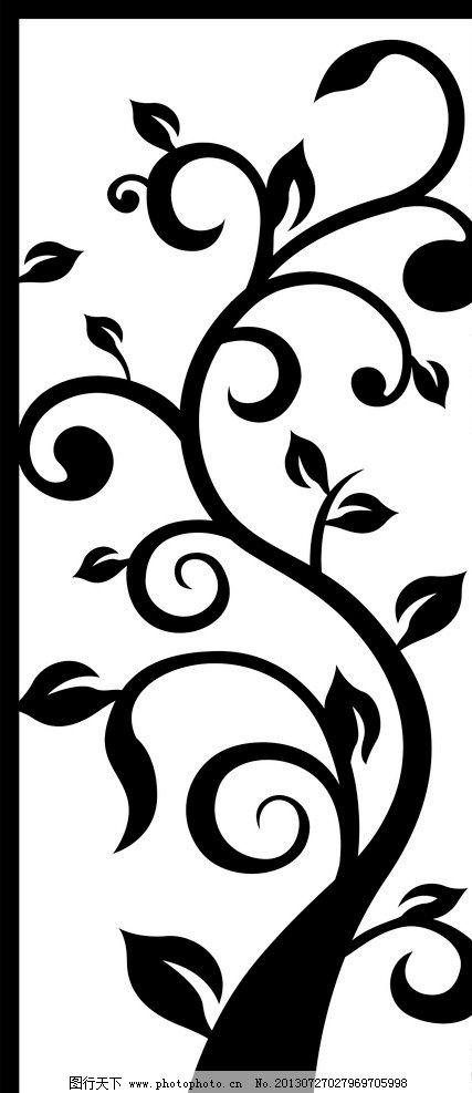 镂空树 树叶 窗花 镂空雕刻 切割花 隔断装饰 艺术玻璃 室内设计 建筑