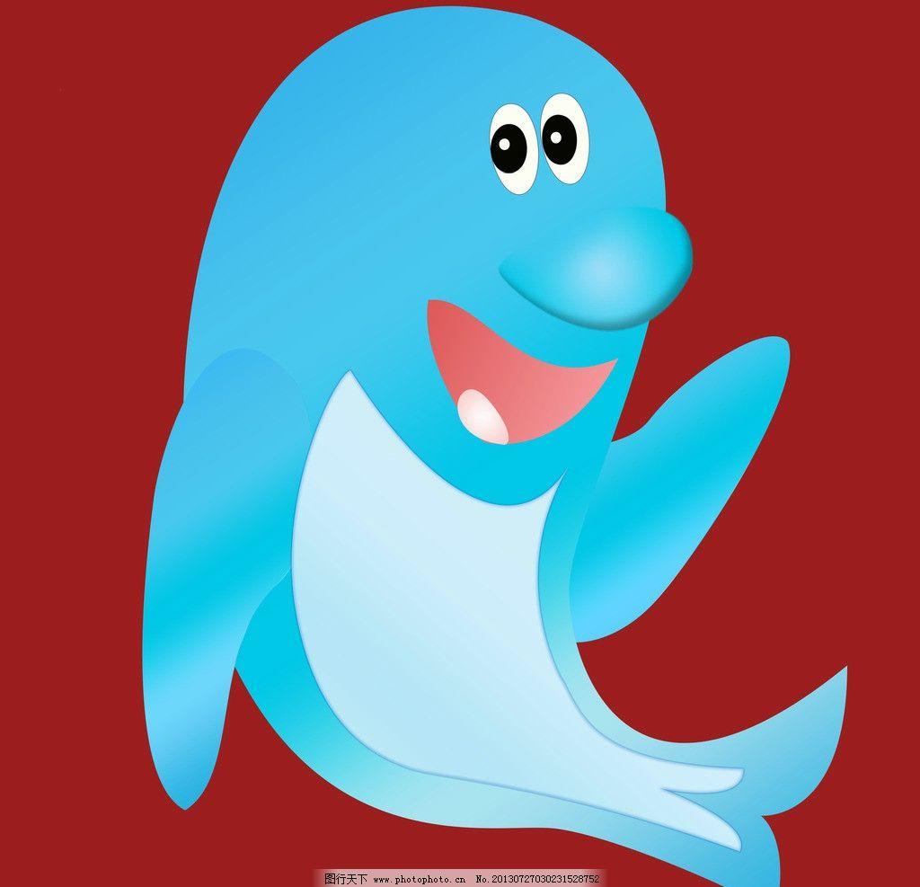 卡通海豚图片