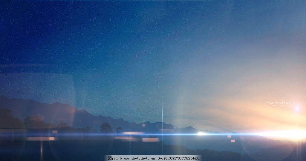 动漫风景 光晕 蓝色 桌面 电脑壁纸 黎明 星空 风景漫画 动漫动画