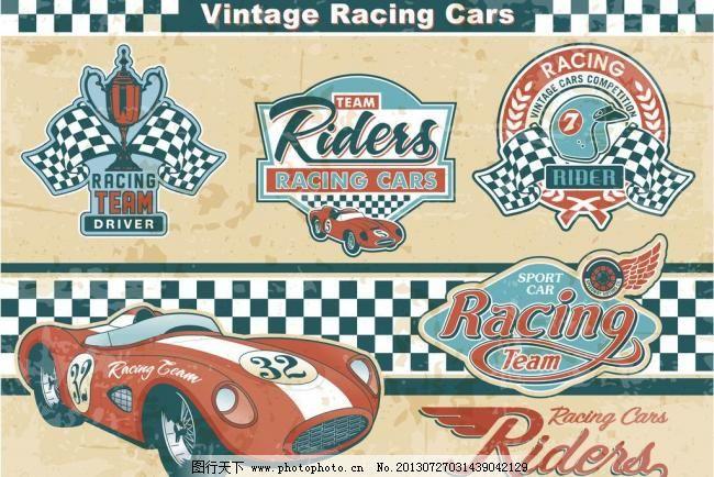 背景 标签 标识标志图标 标志 底纹 底纹边框 动物标签 复古标签 汽车