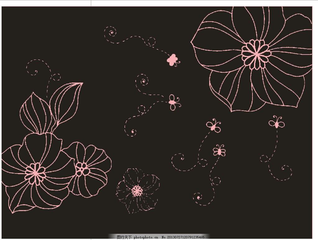 欧式花边 花纹 边框 时尚花纹 欧式边框 装饰花纹 黑色