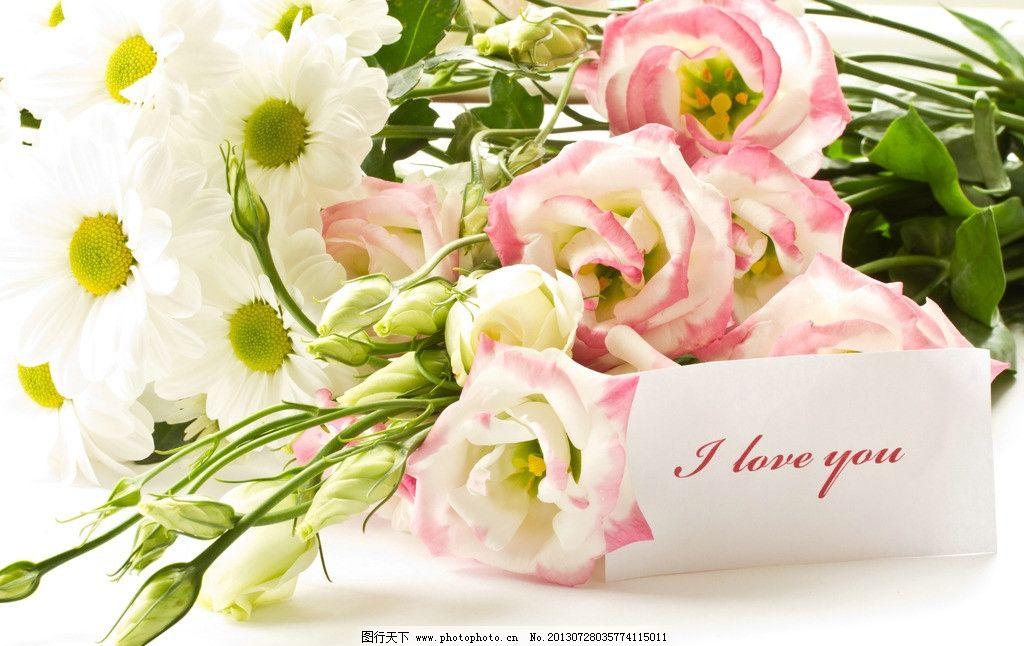 鲜花 花束 情人节 礼物 贺卡 卡片 玫瑰 花瓣 鲜艳 梦幻 背景图片