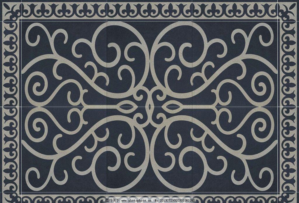 设计图库 底纹边框 花边花纹  地砖拼花 地砖图案 瓷砖 地砖 瓷砖拼花