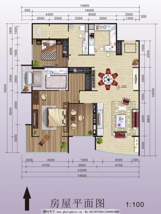 室内设计 数据      房屋平面图      沙发 地板 两室两厅 数据 室内