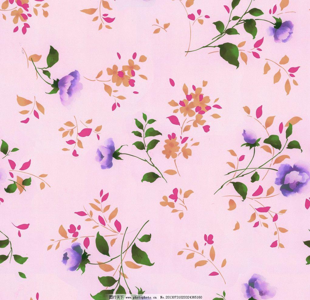 墙纸设计 服装面料 小碎花 花卉 植物 叶子 底纹 花边花纹 底纹边框